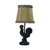 "Dimond 15"" Braysford Mini Rooster Lamp in Black"