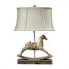Carnavale Rocking Horse Table Lamp in Clancey Court Finish