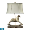 "24"" Carnavale Rocking Horse LED Table Lamp in Clancey Court Finish"