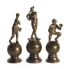 Sterling Set of 3 Hall Of Fame Finials