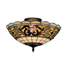 Tiffany Buckingham 3 Light Semi Flush In Vintage Antique