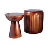 Pomeroy Truffle Set of 2 Table And Barrel Stool, French Antique Copper