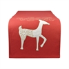 Pomeroy Enchanted 14x96 Runner, Ribbon Red,Snow