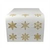 Pomeroy White Christmas 14x96 Runner, Snow,Gold