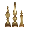 Sterling Set of 3 Lisbon Finials