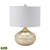 Antique Mercury Glass LED Table Lamp in Gold