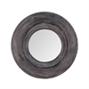 Porthole Mirror In Dark Grey Stain