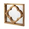 Lazy Susan Quatrefoil Brass Clad Mirror