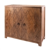 Lazy Susan Plaid Nail Head Cabinet