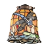 Mix-N-Match 1 Light Tiffany Dragonfly Glass Shade