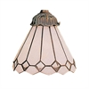 Mix-N-Match 1 Light White Tiffany Glass Shade
