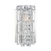 Princess Crown 1 Light Vanity In Chrome And Clear Crystal Glass