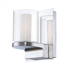Anchor 1 Light Vanity In Chrome And Clear Outer Glass With White Opal Inner Glass