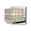 Chastain 1 Light Vanity In Chrome And Clear Glass