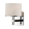 Ombra 1 Light Vanity In Chrome And White Opal Glass