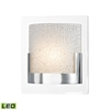Ophelia 1 Light LED Vanity In Chrome And Clear Glass
