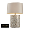 "Dimond TRUMP HOME 27"" Sunny Isles Table Lamp in White Mother of Pearl"