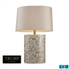 "Dimond TRUMP HOME 27"" Sunny Isles LED Table Lamp in White Mother of Pearl"
