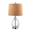 "Dimond 22"" Clear Glass Table Lamp in Polished Chrome"
