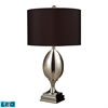 "Dimond 28"" Waverly LED Table Lamp in Plated Mercury"