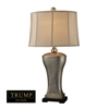 "Dimond TRUMP HOME 34"" Lexington Avenue Table Lamp in Silver Leaf"