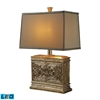Laurel Run LED Table Lamp In Courtney Gold With Ria Bronze Shade And Cream Liner