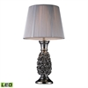 "22"" Rosetto LED Table Lamp in Chrome"