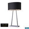 "Dimond TRUMP HOME 31"" Empire 2-light LED Table Lamp in Chrome"