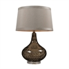 "24"" Smoked Water Glass Table Lamp in Coffee"
