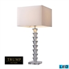 "Dimond TRUMP HOME 29"" Fifth Avenue Clear Crystal LED Table Lamp"