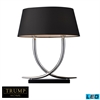 Trump Home Park East 2 Light LED Table Lamp In Chrome And Black