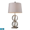"Dimond 28"" Donora LED Table Lamp in Silver Leaf"
