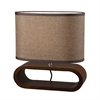 "Dimond 12"" Oval Wooden Table Lamp in Natural Stain"