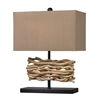 "21"" Natural Driftwood Table Lamp in Black"