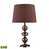 "Dimond 20"" Dravos Glass LED Table Lamp in Bronze and Coffee Plating"