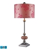 Lauren LED Table Lamp In Chrome And Pink Mosaic