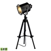 "Dimond 20-34"" Ethan Adjustable Tripod LED Table Lamp in Restoration Black"