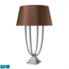 Harris 4 Light LED Table Lamp In Chrome With Chocolate Shade