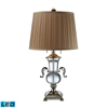 "Dimond 29"" Raven Solid Clear Crystal LED Table Lamp in Polished Nickel"
