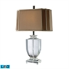 Layfette LED Table Lamp In Clear Crystal With Cream And Taupe Shade