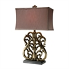 Roseville Table Lamp In Oriole Gold Leaf