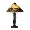 "Dimond 23"" Porterdale Tiffany Glass Table Lamp in Tiffany Bronze"