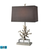 "Dimond 29"" Covington LED Table Lamp in Polished Nickel"