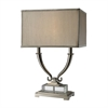 "Dimond 24"" Roberts 2-light Solid Clear Crystal Table Lamp in Polished Nickel"