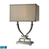 "Dimond 24"" Roberts 2-light Solid Clear Crystal LED Table Lamp in Polished Nickel"