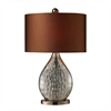 Sovereign Table Lamp In Antique Mercury And Coffee Plating