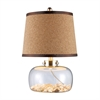 "Dimond 20"" Margate Clear Glass Table Lamp with Shells"