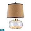 "Dimond 20"" Margate Clear Glass LED Table Lamp with Shells"