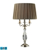 "Dimond 28"" Deshler Solid Clear Crystal LED Table Lamp in Chrome"