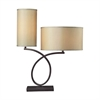 "Dimond 26"" Greenwich 2-light Table Lamp in Aged Bronze"